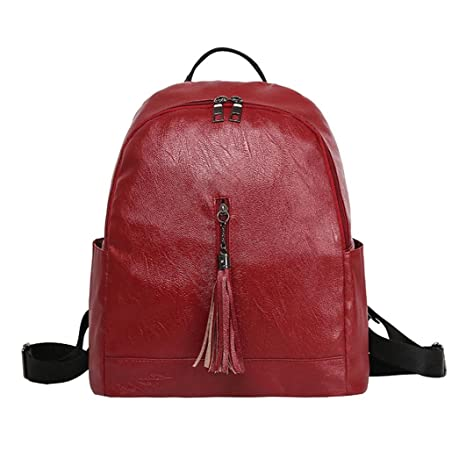 633edab3147d Amazon.com: Fashion Women Solid Color Leather Zipper Crossbody Bags ...