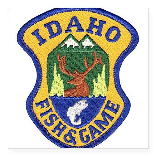 CafePress - Idaho Game Warden Oval Sticker - Square Bumper Sticker Car Decal, 3