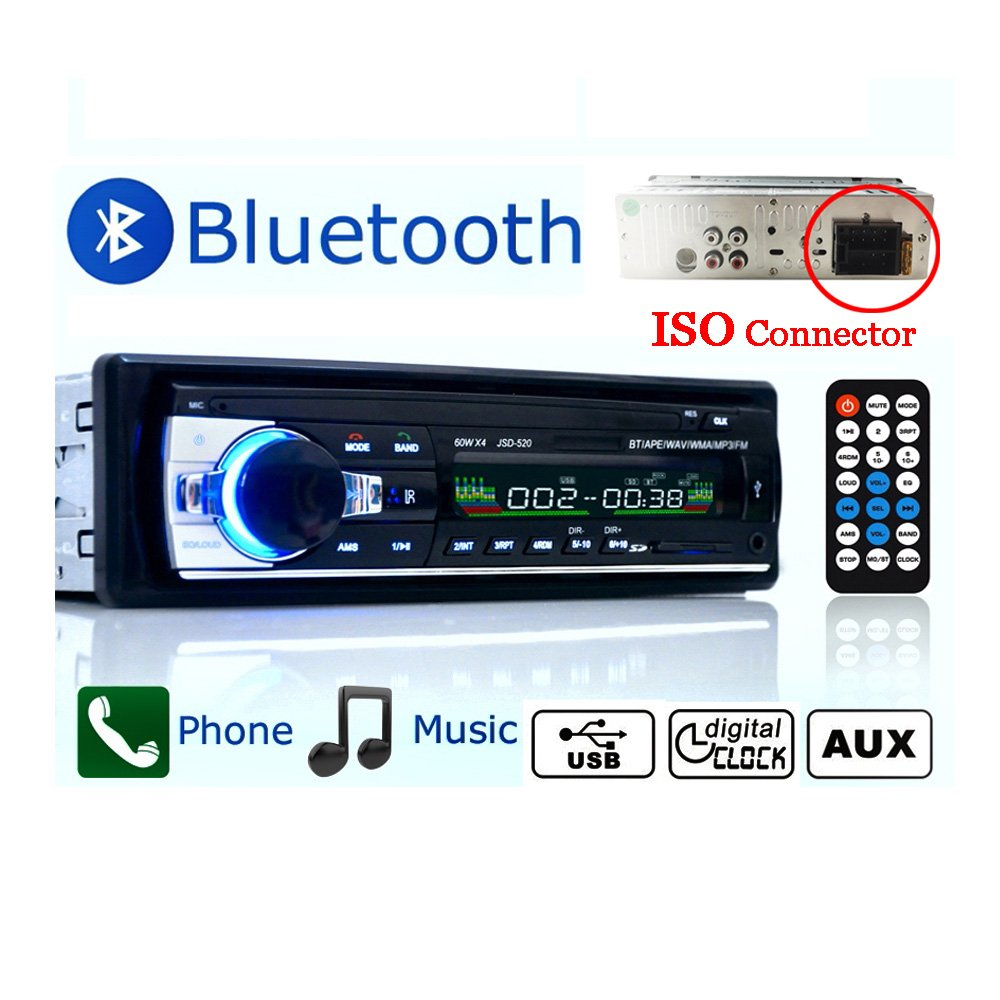 Eaglerich 12V Auto-Stereo-FM-Radio MP3-Audio-Player Bluetooth ...