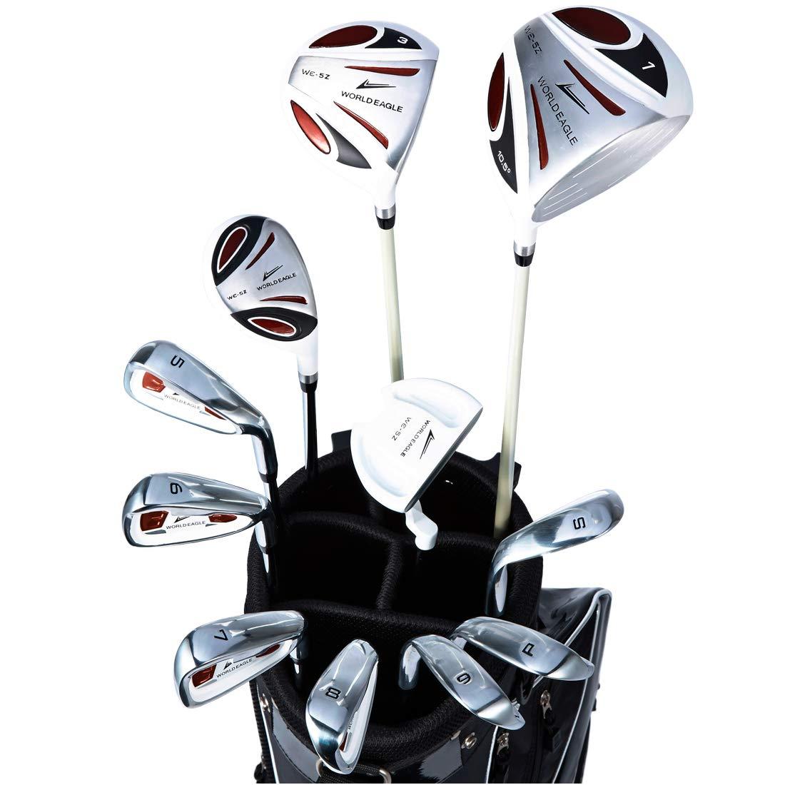 ワールドイーグル5Z 右用 B07JVRHNF7 メンズ ゴルフ クラブ フルセット ゴルフ ホワイト FブラックバッグーKS-Ver. 右用 WE-5Z-WH-FBK-KS フレックスR B07JVRHNF7, Dクリエイツショップ:1e927bc3 --- cooleycoastrun.com