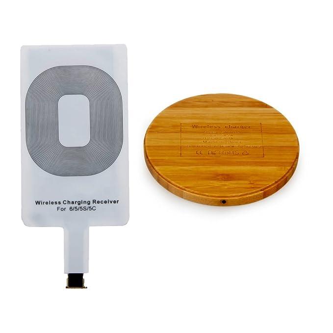 Cargador inalámbrico, madera de bambú cargador inalámbrico ...
