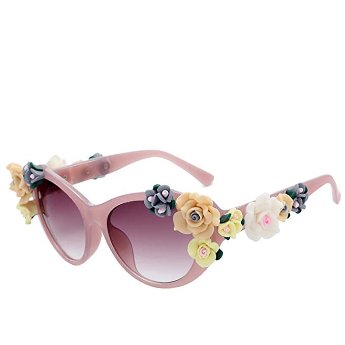 Amazon.com: Retro big frame roses sunglasses for men women ...