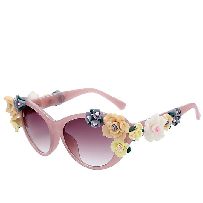 Amazon.com: Retro big frame roses sunglasses for men women ...