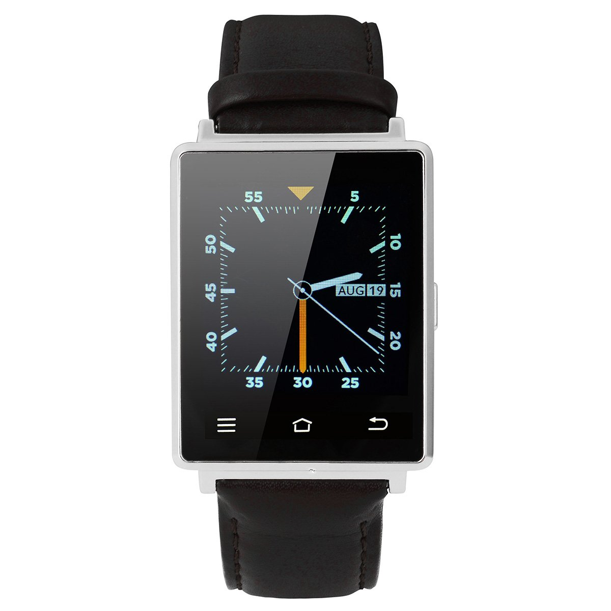 Smartwatch Phone -Silver Android Smartwatch Bluetooth Life waterproof Smartwatch
