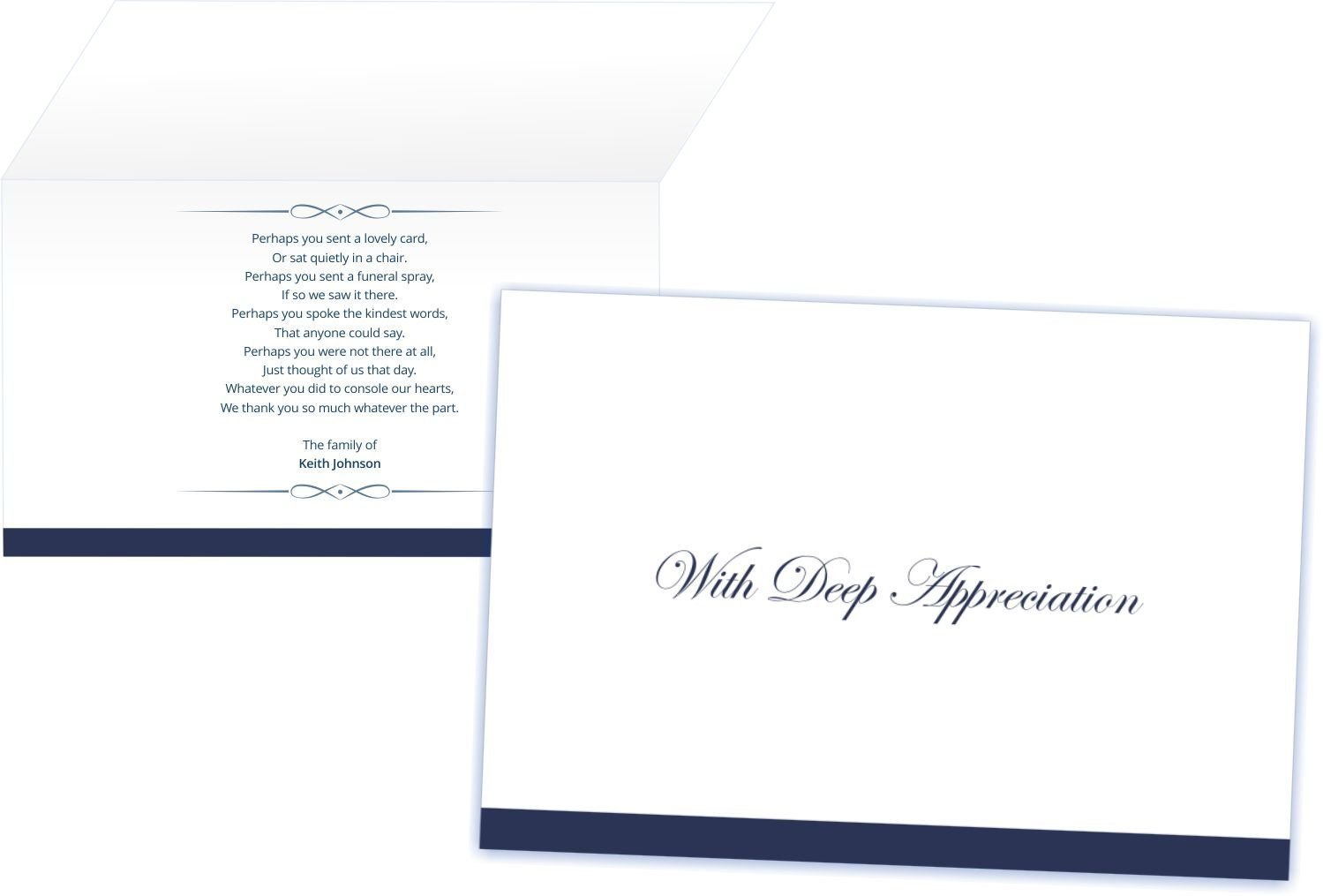 Amazon personalized funeral thank you cards and envelopes set amazon personalized funeral thank you cards and envelopes set of 50 standard health personal care izmirmasajfo