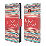 Head Case Designs Love Infinity Aztec Leather Book Wallet Case Cover for Nokia Lumia Icon / 929 / 930
