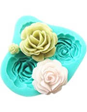 Peicees 4 Size Roses Flower Silicone Cake Mold DIY Chocolate Sugarcraft Mold