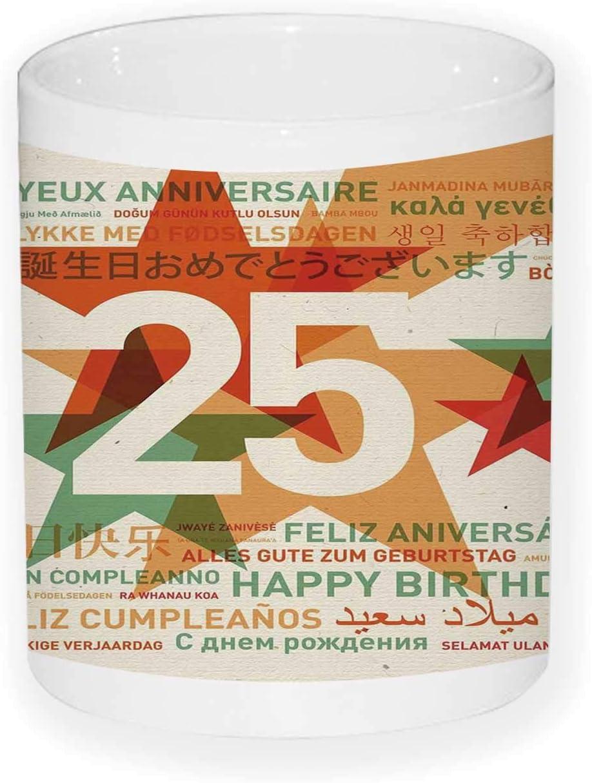Amazon.com : 25th Birthday Decorations Ceramics Pencil Pen ...