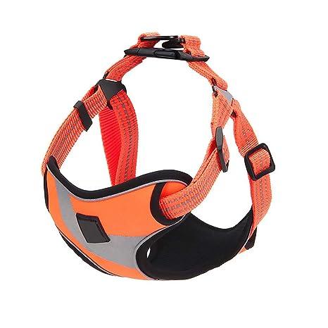 WUYANSE Reflectante Perros Correa con Doble Capas Transpirable Red Cinturón con Regla mässigen vibración Chaleco de