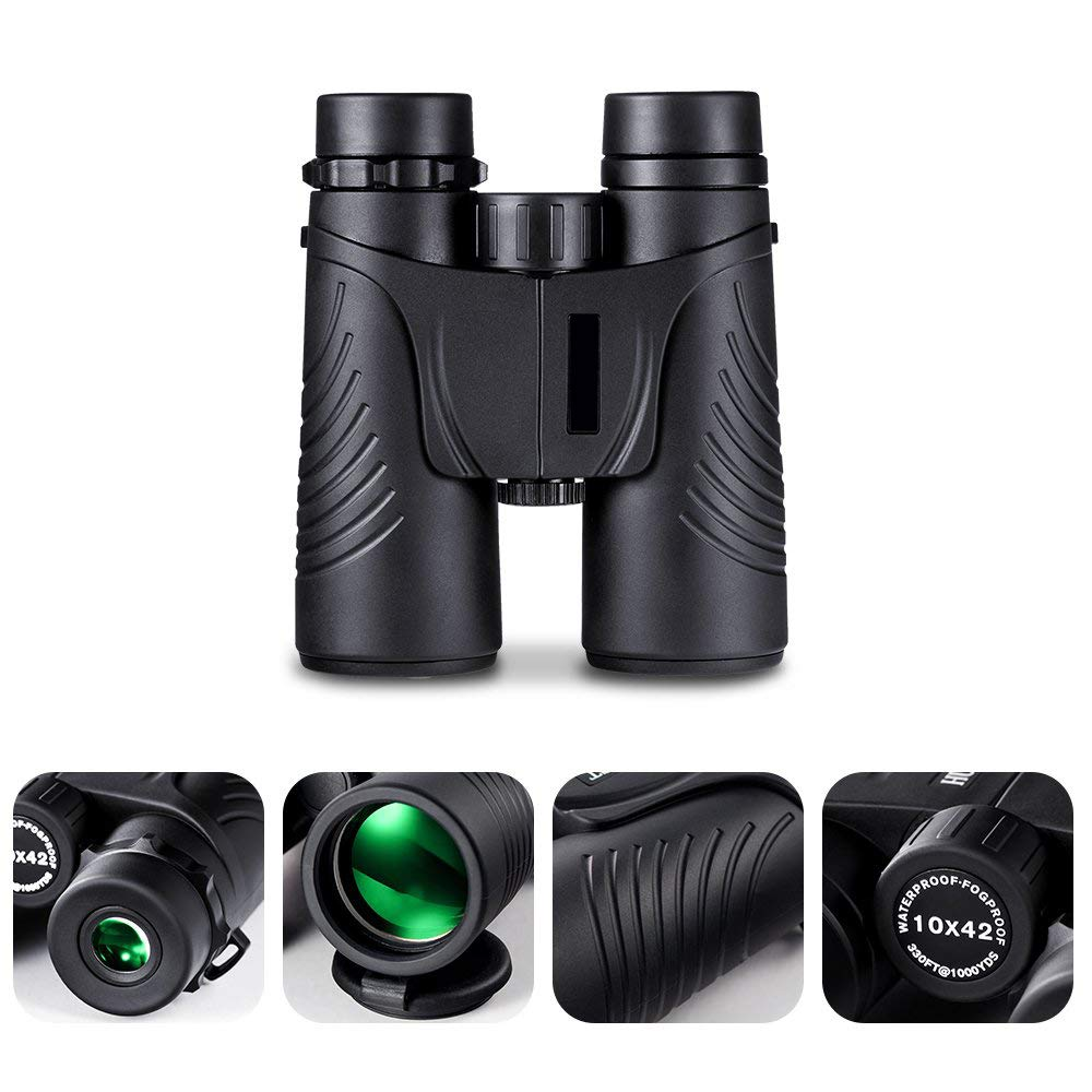 YXRPK Binoculars Telescope 10X42 HD Quality BAK 4 Roof Prism Lightweight Compact Fogproof Waterproof Best for Bird Watching Hunting Camping Travel Hiking by YXRPK