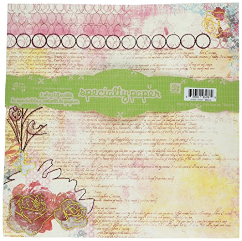 - Prima 534769 12 by 12-Inch Art Stitched Mulberries Paper, Poetic