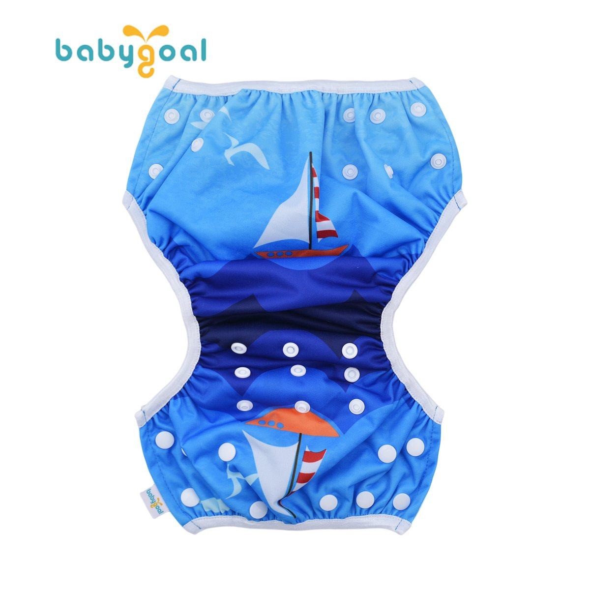 babygoal Reusable Swim Diaper One Size Adjustable and Washable Swim Underwear Fits 0-2 Years Babies and Swimming Lessons FSW11-CA Strawberry
