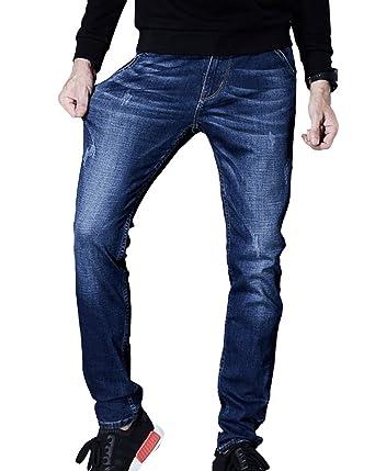 Anguang Hombre Tramo Cortar Pantalones Flaco Delgado Ajuste ...