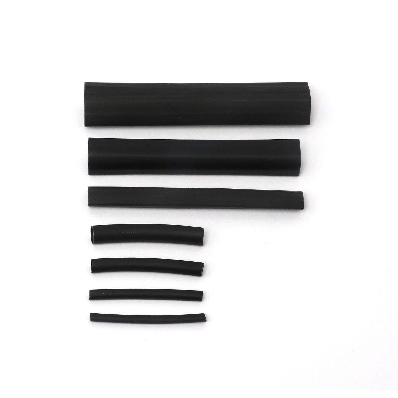 Lot de 127 gaines thermor/étractables pour isolation /électrique Noir en 12 tailles