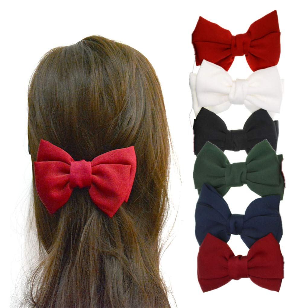 Baby Accessories Clothing, Shoes & Accessories Pair Of Silvery Grey Flower Hair Bow Clips/hair Accesories/school Uniform Fast Color