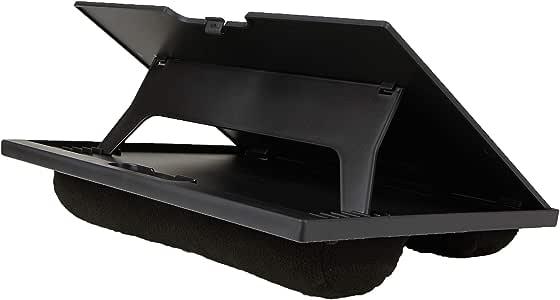 Mind Reader LTADJUST-BLK Adjustable Portable 8 Position Lap Top Desk with Built in Cushions, Black
