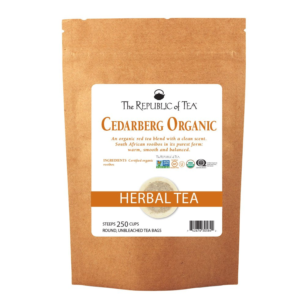 The Republic Of Tea Caramel Apple Red Tea, 36 Tea Bags, Caffeine-Free Premium Rooibos Dessert Tea