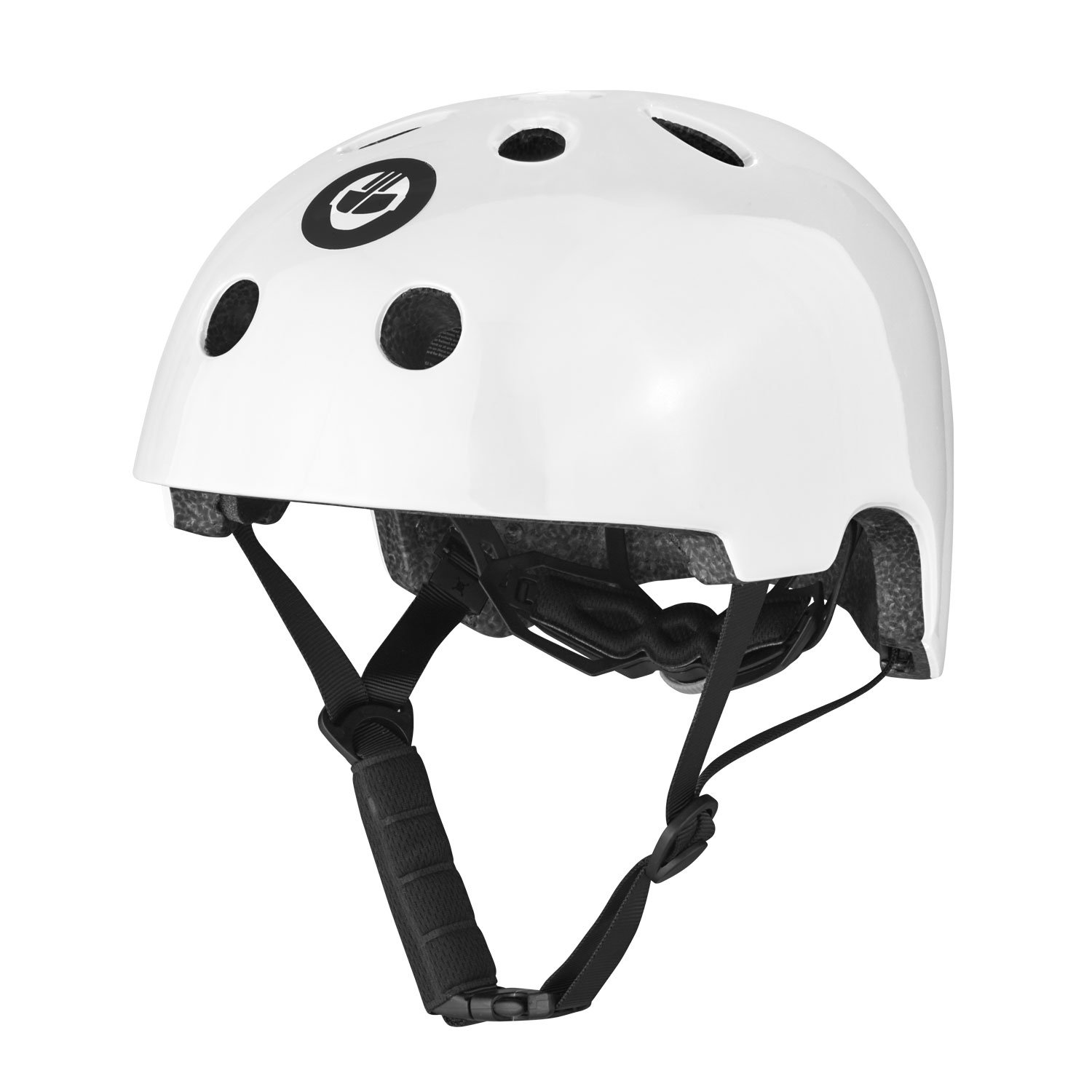 GOTRAX Multi-Sport Skateboard Scooter and Bike Helmet (White, Medium)