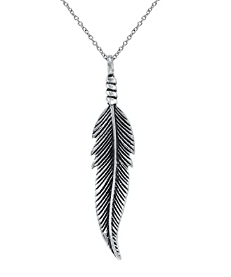 Amazon sterling silver freedom feather pendant necklace 18 sterling silver freedom feather pendant necklace 18quot aloadofball Images