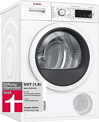 EEK A+++ Bosch WTWH7540 Wärmepumpentrockner weiß 8kg
