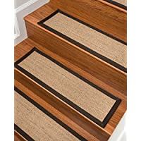 NaturalAreaRugs Montreal Sisal Carpet Stair Treads, Fudge Set of 4
