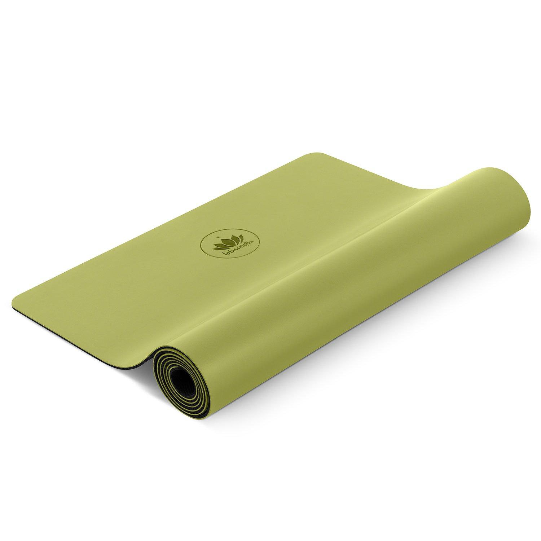 Lotuscrafts Yogamatte Pure - extrem Rutschfeste PU-Oberfläche - ökologisch aus Naturkautschuk - Profi Yoga Matte ideal für Hot Yoga und Ashtanga Yoga - extra breit [183 x 66 x 0,4 cm]