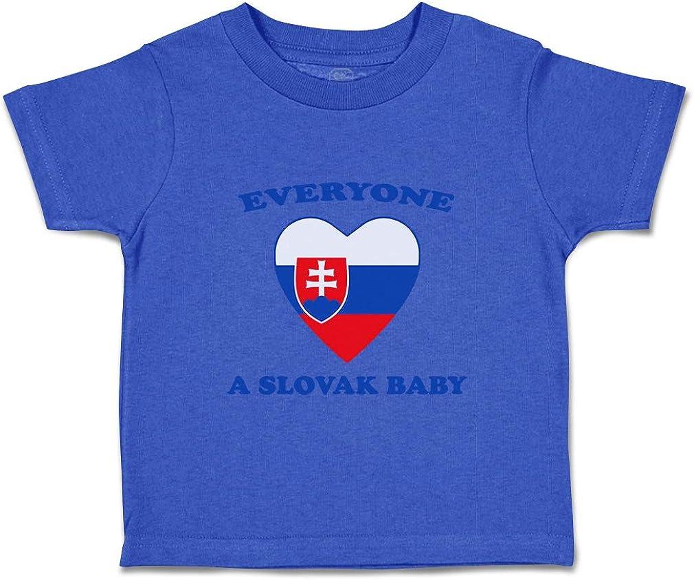 Custom Baby /& Toddler T-Shirt Everyone Loves Slovak Cotton Boy Girl Clothes