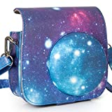 [Fujifilm Instax Mini 8 Case] - Nodartisan First Generation Galaxy Starry Sky PU Leather Case Bag for Instax Mini 8/8+ Camera - Film Count Show Design