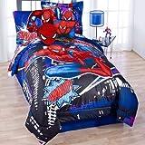 Marvel Ultimate Spiderman Twin Comforter & Sheet Bedding Set Spider-Man