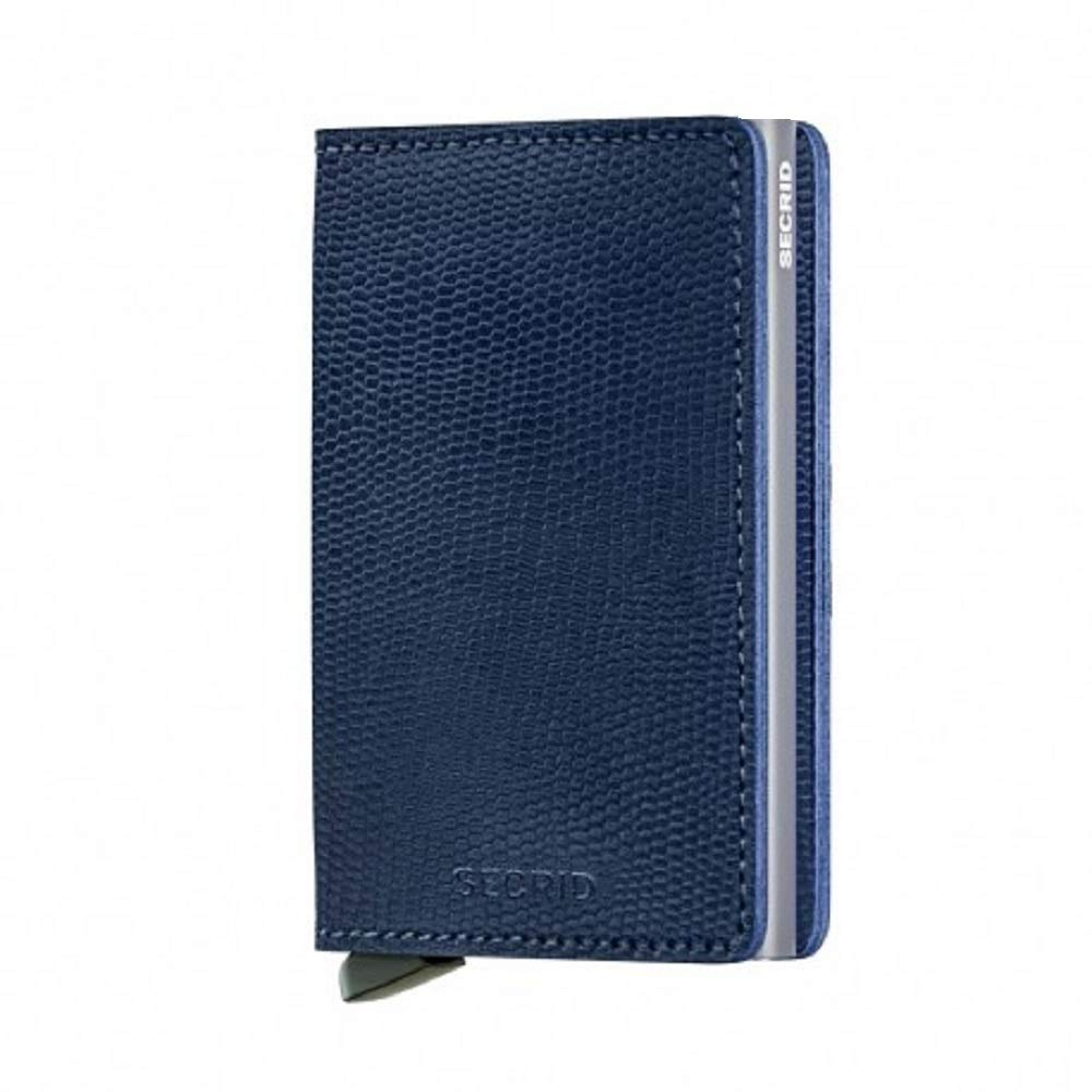 SECRID - Secrid slim wallet Genuine Leather RFID Safe Card Case for max 12 cards (Rango Blue Titanium)