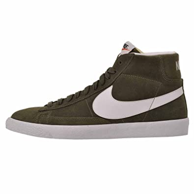 detailed look d6fc6 7b453 Nike Mens Blazer Mid PRM Suede Urban HazeWhiteWhite Fashion Sneakers (11