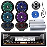 5 ch marine amp - JVC Marine Stereo Receiver Bundle Kit with Remote Control, 6 Enrock 6.5