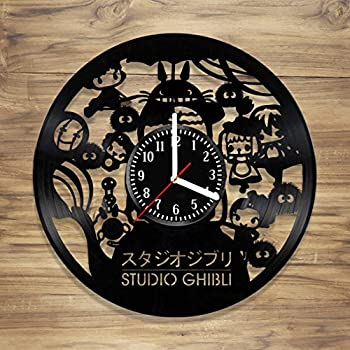 Studio Ghibli Vinyl Wall Clock Manga Totoro Spirited Away Japan Perfect Decorate Home MODERN Style UNIQUE GIFT idea for Him Her (12 inches)