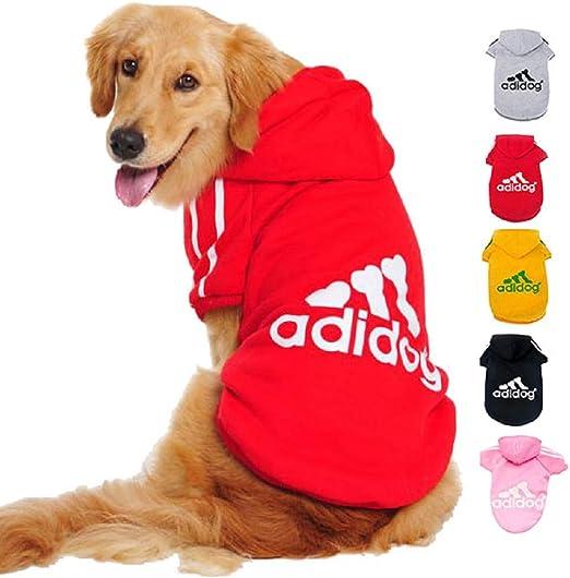 Imagen deDucomi Adidog - Sudadera con Capucha para Perros en Algodón Suave - Costuras Resistentes - Disponibles de XS a 8XL - Se envía Desde España (XL, Rojo)