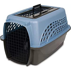 Two-Door Top Load Dog Crate by Petmate
