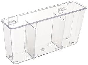 "Cutlery Holder (Clear) (4.5""H x 7.75""W x 2.25""D)"