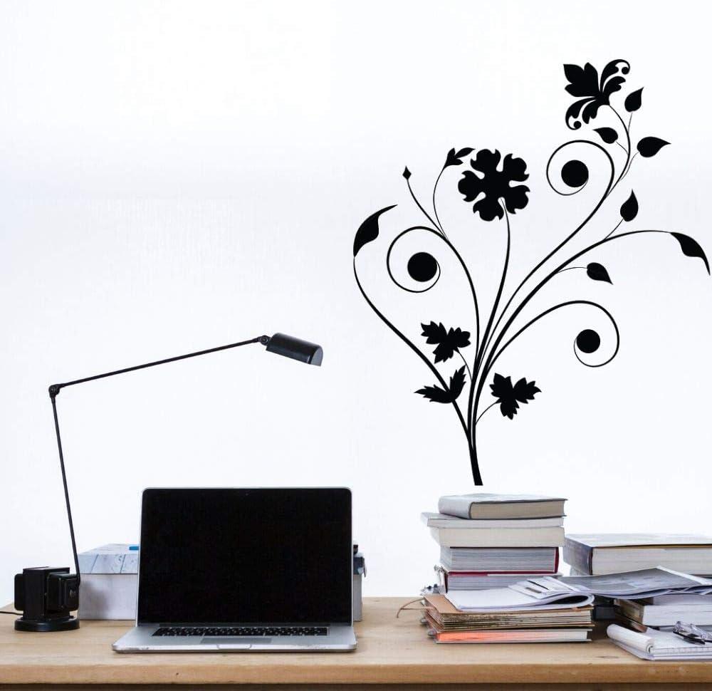 yaonuli Etiqueta de la Pared de la Flor del Arte del Vinilo de la Silueta del diseño Simple de la Mariposa para el Dormitorio casero y la decoración de la Tienda 74x85cm