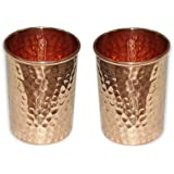 Handmade pure copper glass cup for water Copper Tumbler Copper water glass Copper water tumbler Copper cup for health benefits set of 2 Hammered