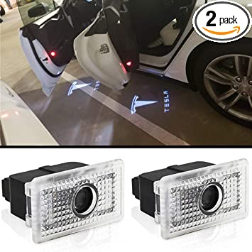 Car Door Led logo Lights Projector Welcome Lamp Ghost Shadow light for TESLA Compatible X S Series Accessories Not for 3 Series