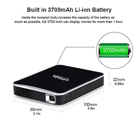 MaiTian Proyector, p6 teléfono Inteligente Mini proyector con ...