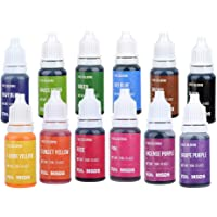 Jelife Colorante Alimenticio Líquido Food Dye Coloring Set Extremadamente Alta Concentración Liquid Set para Colorear Bebidas