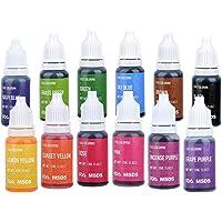 Jelife Lebensmittelfarbe Flüssig Lebensmittel Farben Set zum Geeignet für Backen Küche Und Slime Hochkonzentriert & Zuckerfrei 12 X 10ml