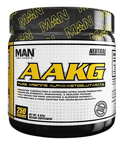MAN Sports Aakg 100% Pure Arginine Alpha-ketoglutarate Powder, Neutral, 250 Gram Aakg Powder
