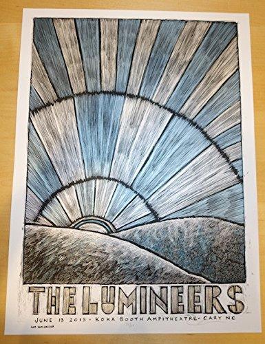 2013 The Lumineers - Cary Silkscreen Concert Poster by (Silkscreen Concert Poster)
