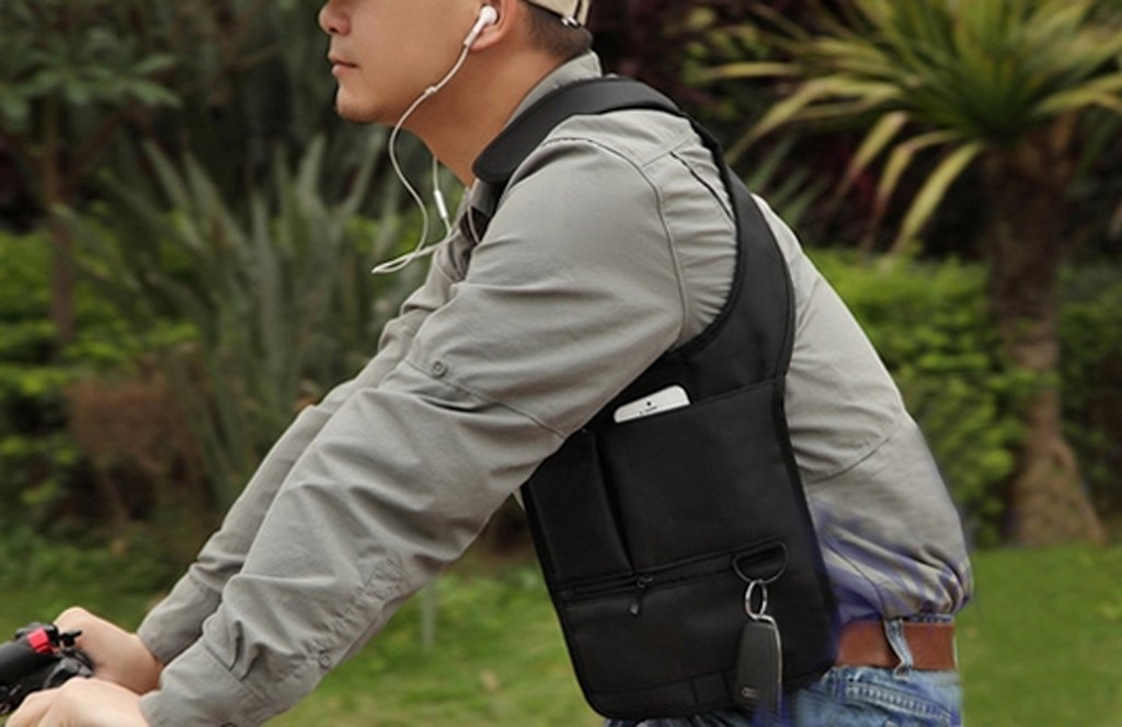 cell phone double shoulder holster - phone & wallet