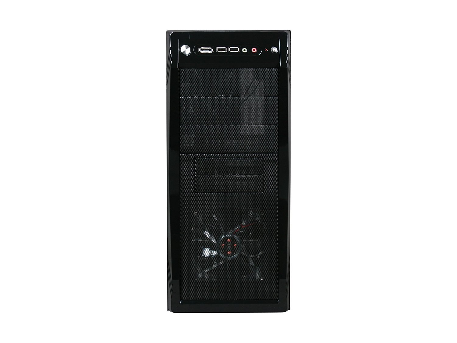 ROSEWILL ATX Mid Tower Gaming Computer Case, Gaming Case with Blue LED for Desktop / PC and 3 Case Fans Pre-Installed, Front I/O Access Ports  (CHALLENGER) by Rosewill (Image #2)