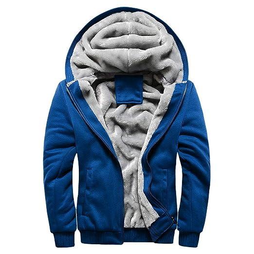 Abrigo de Chaqueta de suéter, JiaMeng Hombre Sudadera con Capucha Winter Warm Fleece Zipper de Invierno Geographical: Amazon.es: Ropa y accesorios