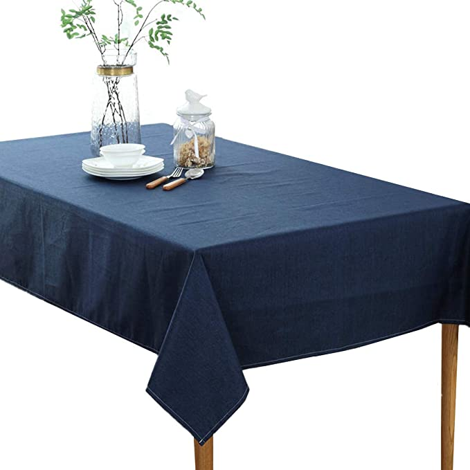 Floral Pattern Kitchen Table Cloth Cotton Linen Rectangular Dining Table Cover N