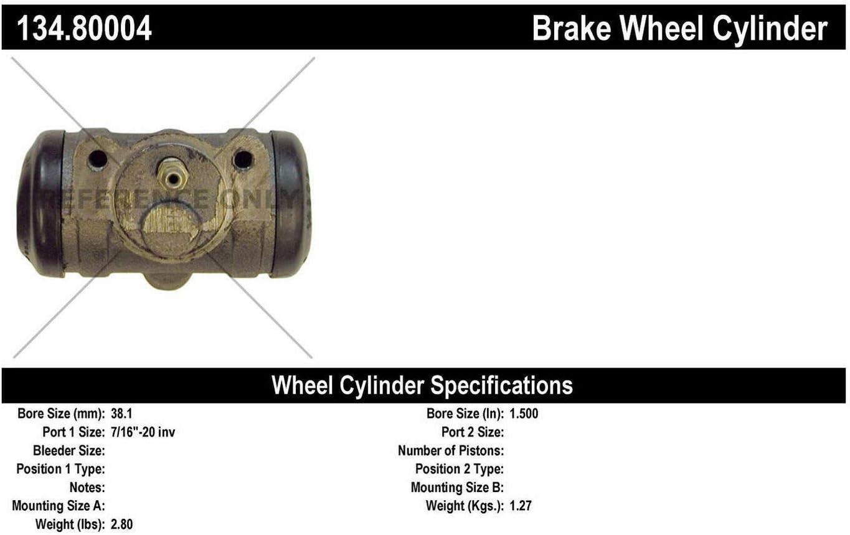 Centric Parts 134.80004 Drum Brake Wheel Cylinder