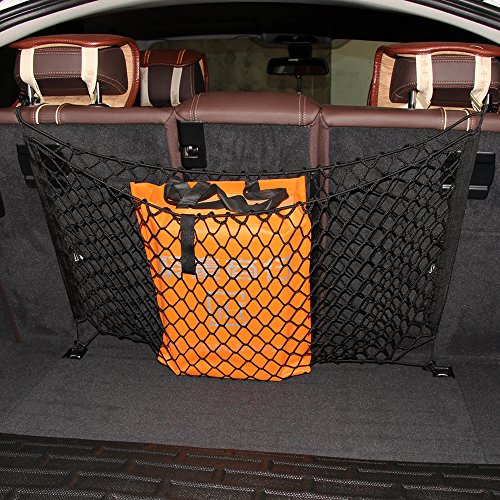 AndyGo 4 Hooks Car Backseat Hammock Style Cargo Net Fit For Toyota 4Runner Avalon Camry Corolla FJ Cruiser Highlander Prius (Cargo Net Prius V compare prices)